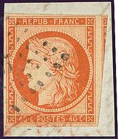 No 5, Un Voisin, Obl Pc Sur Petit Fragment. - TB - 1849-1850 Ceres