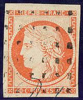 No 5, Obl Gros Points, Fente En Marge Hors Timbre. - TB - 1849-1850 Ceres
