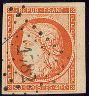 No 5a, Orange Vif, Bdf, Obl Pc 1782, Jolie Pièce. - TB - 1849-1850 Ceres
