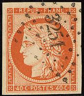 No 5b, Orange Foncé, Obl Pc 3251, Jolie Pièce. - TB - 1849-1850 Ceres