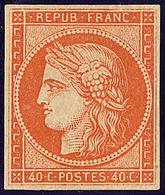 * No 5A, Orange Foncé Gomme Brunâtre, Très Frais. - TB. - RR - 1849-1850 Cérès