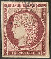 No 6b, Obl Pc, Jolie Pièce. - TB. - R - 1849-1850 Cérès