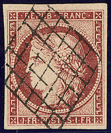 No 6B, Obl Grille, Très Jolie Pièce. - TB. - R - 1849-1850 Ceres