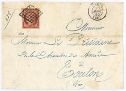 Lettre No 6B, Obl Grille Sur Devant De Lettre D'Avril 50. - TB. - R - 1849-1850 Cérès