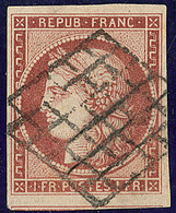 No 6B, Un Voisin, Obl Grille, Légèrement Oxydé Sinon TB - 1849-1850 Cérès