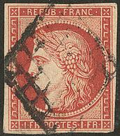 Vermillon Vif. No 7a, Pd Mais Très Belle Nuance Foncée, TB D'aspect. - R - 1849-1850 Cérès