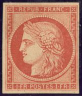 (*) Vervelle. No 7A (Maury 7D), Infime Pelurage Au Verso (normal), Superbe Nuance Foncée. - TB. - RRR - 1849-1850 Ceres