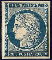 * Non émis. No 8a, Bleu Foncé, Jolie Pièce. - TB. - R - 1849-1850 Cérès