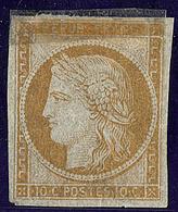 (*) Essais. 10c Bistre Papier Pelure, Petit Bout De Scotch Collé Sur Le Timbre Mais TB D'aspect - 1849-1850 Cérès