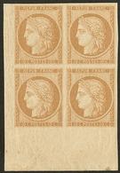 ** Réimpression. No 1f, Bloc De Quatre Cdf, Très Frais. - TB - 1849-1850 Ceres