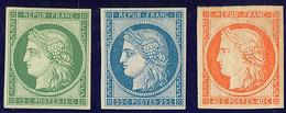 * Réimpression. Nos 2e, 4d, 5g, Très Frais. - TB - 1849-1850 Ceres