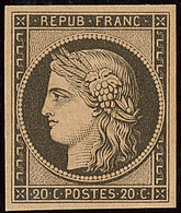 * Réimpression. No 3f. - TB - 1849-1850 Cérès