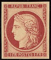 ** Réimpression. No 6f, Très Frais. - TB - 1849-1850 Cérès