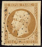 No 9, Bistre Jaune, Un Voisin, Obl étoile, Superbe. - R - 1852 Louis-Napoleon