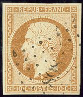 No 9, Obl Pc 898, Pelurage Au Verso Mais Superbe D'aspect - 1852 Louis-Napoleon
