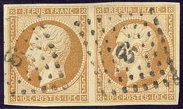No 9, Paire Obl Pc 65. - TB - 1852 Louis-Napoleon