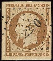 No 9d, Bistre-brun Foncé, Obl Pc 2250, Un Voisin, Jolie Pièce. - TB. - R - 1852 Louis-Napoleon