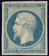 * No 10, Bleu, Nuance Foncée, Gomme Diminuée Mais Très Frais Et TB. - R - 1852 Louis-Napoleon