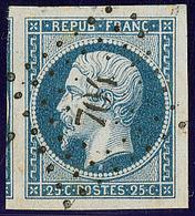 No 10a, Bleu Foncé, Deux Voisins, Obl Pc 704, Superbe - 1852 Louis-Napoleon