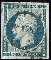 No 10c, Bleu Verdâtre, Obl Gros Points. - TB (N°et Cote Maury) - 1852 Louis-Napoleon