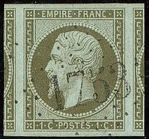 No 11, Deux Voisins, Obl Gc 1753, Ex Choisi. - TB - 1853-1860 Napoleon III
