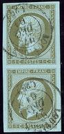 No 11, Paire Verticale Obl Cad Louviers Déc 61, Ex Choisi. - TB - 1853-1860 Napoleon III