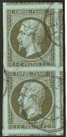No 11, Paire Verticale, Huit Voisins, Pièce Choisie. - TB - 1853-1860 Napoleon III
