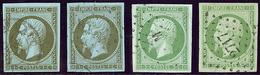 Nos 11 (2), 12 (2)), Nuances Et Obl. - TB - 1853-1860 Napoleon III