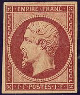 * Réimpression. No 18d, Fortes Charnières Mais TB. - R - 1853-1860 Napoléon III