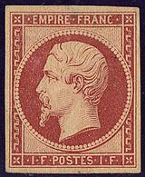 * Réimpression. No 18d, Gomme Altérée Mais TB. - R - 1853-1860 Napoléon III