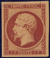 * Réimpression. No 18d, Pelurage Au Verso, TB D'aspect - 1853-1860 Napoléon III
