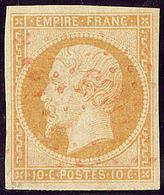 Oblitérations. Petits Chiffres. No 13Aa, Jaune-citron, Obl Pc 1495 Rouge. - TB - 1853-1860 Napoléon III