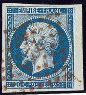 Oblitérations. Petits Chiffres. No 14A, Petit Bdf, Obl Pc 2221 Rouge. - TB - 1853-1860 Napoléon III