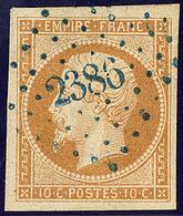 Oblitérations. Pc Bleu. No 13A, Obl Pc 2386, Ex Choisi. - TB - 1853-1860 Napoléon III