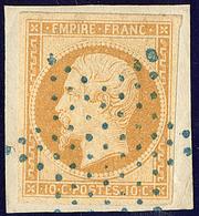 Oblitérations. Etoile Bleue. No 13Aa, Citron, Sur Support, Ex Choisi. - TB - 1853-1860 Napoléon III