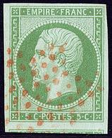 Oblitérations. Etoile Rouge. No 12, Un Voisin, Très Frais. - TB - 1853-1860 Napoléon III