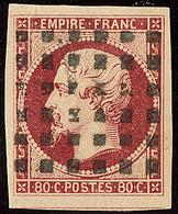 Oblitérations. Gros Points. No 17A, Un Voisin, Ex Choisi. - TB - 1853-1860 Napoléon III