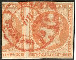 Oblitérations. Cad Rouge Des Imprimés. No 16, Un Grand Voisin. - TB - 1853-1860 Napoléon III