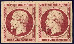 Oblitérations. Pointillé Fin. No 17A, Paire, Jolie Pièce. - TB - 1853-1860 Napoléon III