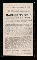 GEVALLEN OP VELD VAN EER TE KOKSIJDE 28 MAART 1918 - MAURICE WYFFELS WACHTMEESTER 2e ARTILLERIE - GENT 1893 - Décès