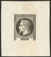(*) Epreuve Sans Valeur, En Noir Sur Chine, Feuillet 41x48mm. - TB. - R - 1863-1870 Napoléon III. Laure