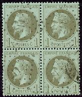 No 25, Bloc De Quatre Obl Pgc 211 D'Aubusson. - TB - 1863-1870 Napoléon III. Laure