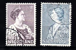 Nederland 1934 Nvph Nr 265 + 266, Mi Nr 272 + 273 ; Crisiszegels, Koningin Wilhelmina + Prinses Juliana - Periode 1891-1948 (Wilhelmina)