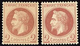 ** Nos 26A, 26B. - TB - 1863-1870 Napoléon III. Laure