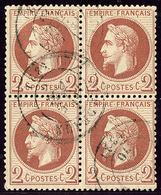 No 26B, Bloc De Quatre Obl Cad. - TB - 1863-1870 Napoléon III. Laure