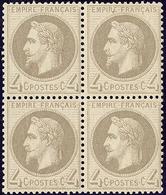 ** No 27B, Gris, Bloc De Quatre (un Ex *). - TB - 1863-1870 Napoléon III. Laure