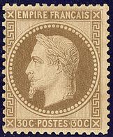 * No 30, Brun, Infime Point De Pelurage Au Verso Mais Très Frais Et TB - 1863-1870 Napoléon III. Laure