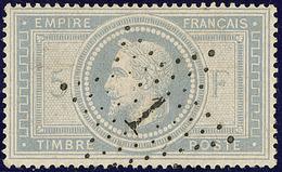 No 33, Gris-violet, Obl étoile, Superbe. - R - 1863-1870 Napoléon III. Laure