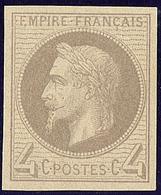 ** Non Dentelés. No 27f, Très Frais. - TB - 1863-1870 Napoleon III With Laurels