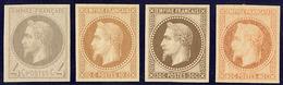* Rothschild. Nos 27Bf, 28Aa, 30c, 31c. - TB - 1863-1870 Napoléon III. Laure